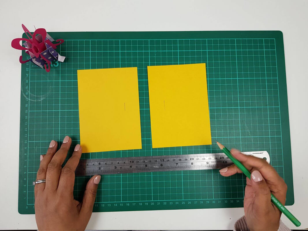 How to make a birthday pop up card tutorial - picture of the inner card covers