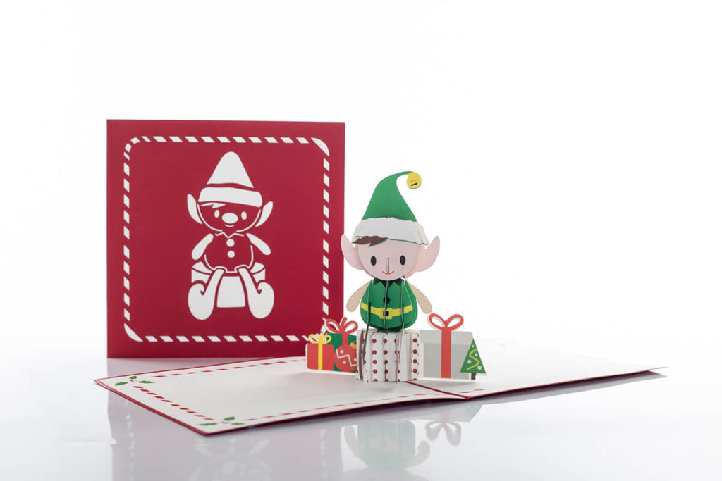 Our Elf Christmas Card is the perfect final Elf on a shelf.