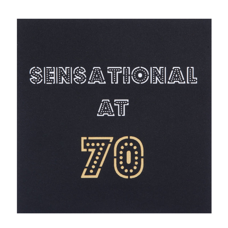 70th birthday card cover which reads
