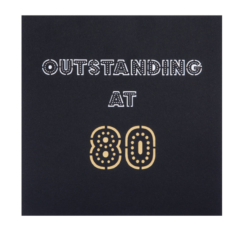 80th birthday pop up card cover which reads