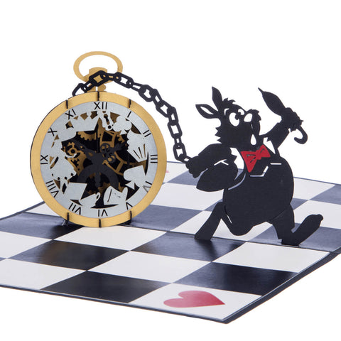 Alice in Wonderland Pocket Watch Pop Up Card