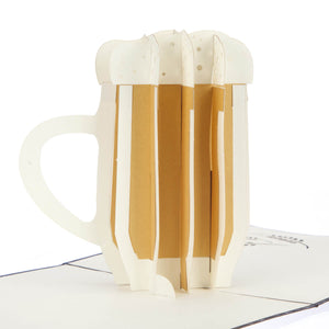 Close up image of 3D beer stein pop up card