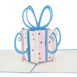 Pink Birthday Present Pop Up Card