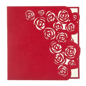 cover image of Red Bouquet of Roses pop up card cover