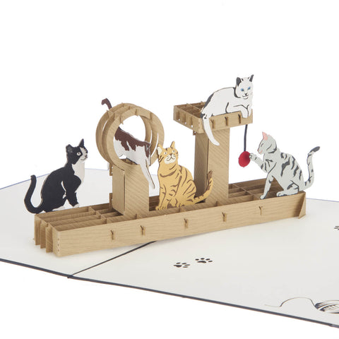Cat Tree Pop Up Card
