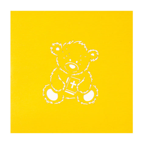 Christening Bear Pop Up Card
