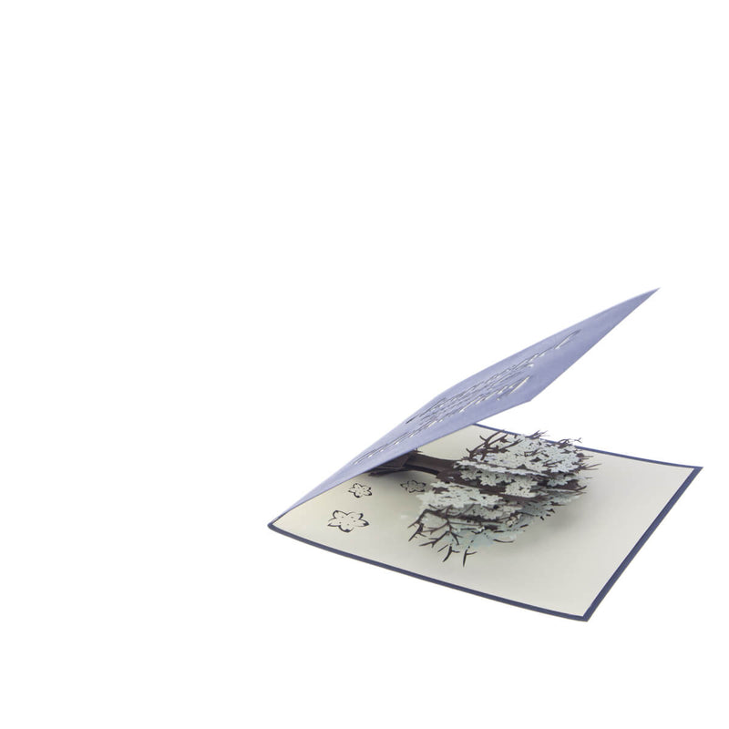 Image of Diamond Wedding 60th Anniversary Card slightly open at 45 degrees on a white background