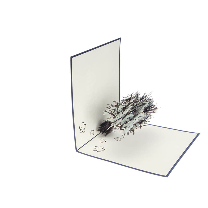 Image of Diamond Wedding 60th Anniversary Card half open at 90 degrees on a white background