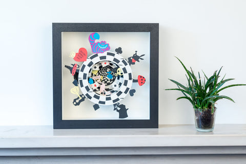 Alice In Wonderland Pop Up Art