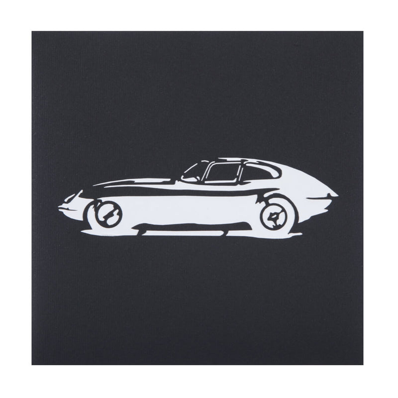 Jaguar E-Type Pop Up Card Black Cover