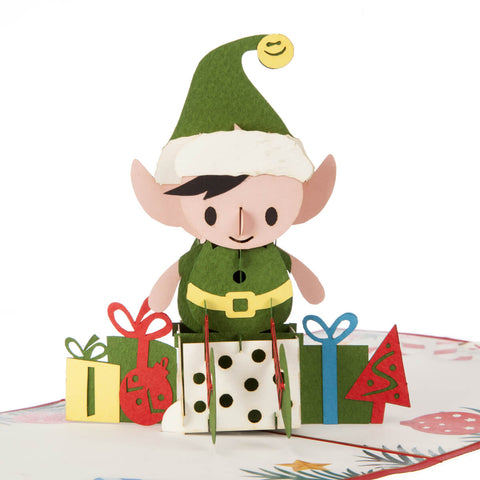 Elf Pop Up Card