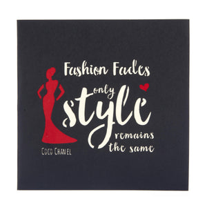 Fashion Lover Pop Up Card cover which reads