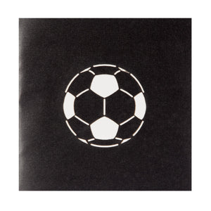 close up image of football pop up birthday card cover
