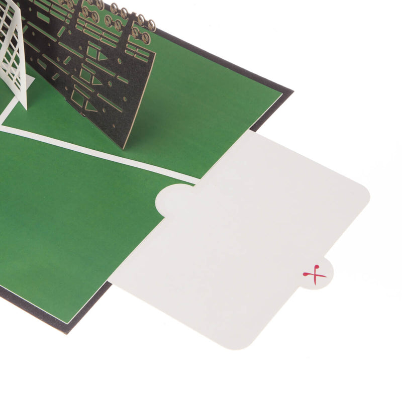 image of football pop up card slide out note card