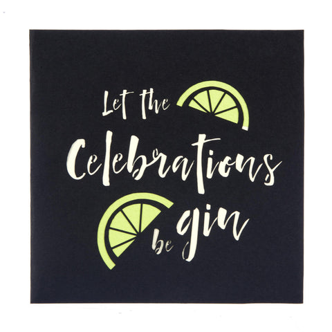 Gin Pop Up Card