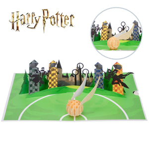 Harry Potter Birthday Card - Golden Snitch Pop Up Card Close Up Image