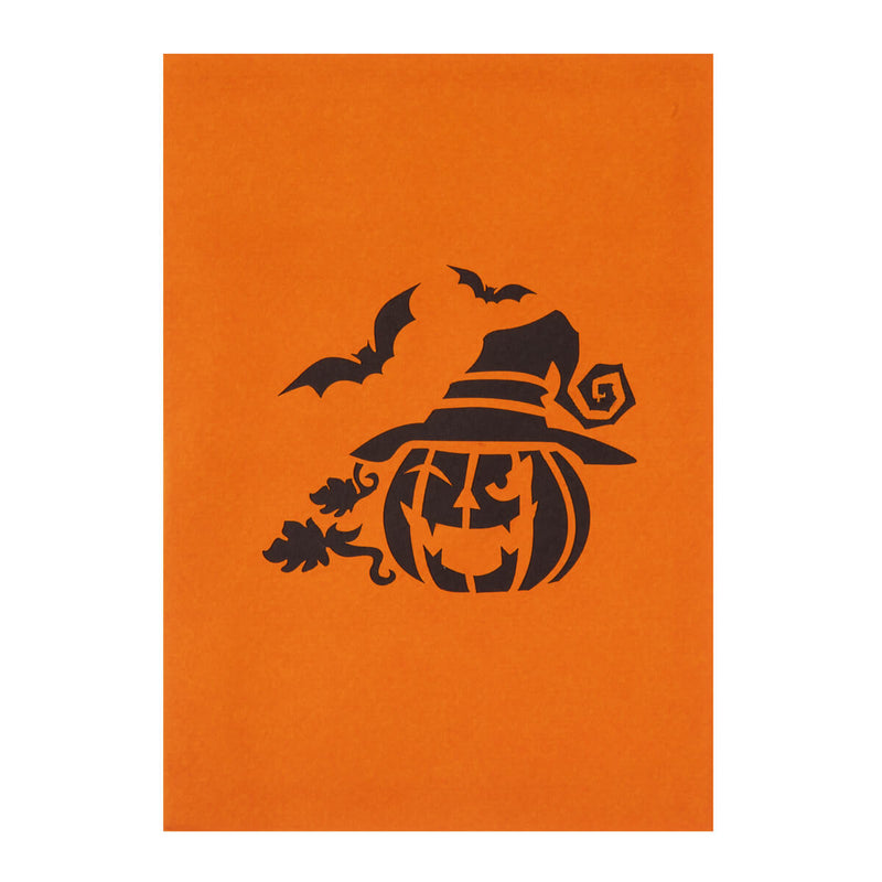 close up image of halloween pop up card cover