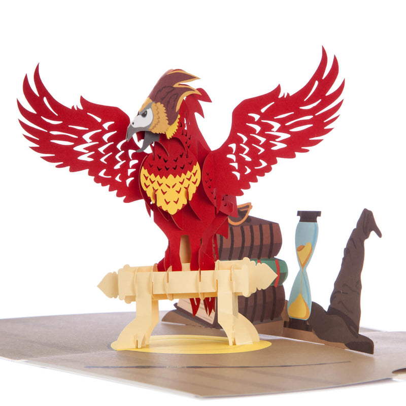 Close up image of Harry Potter Fawkes Pop Up Card