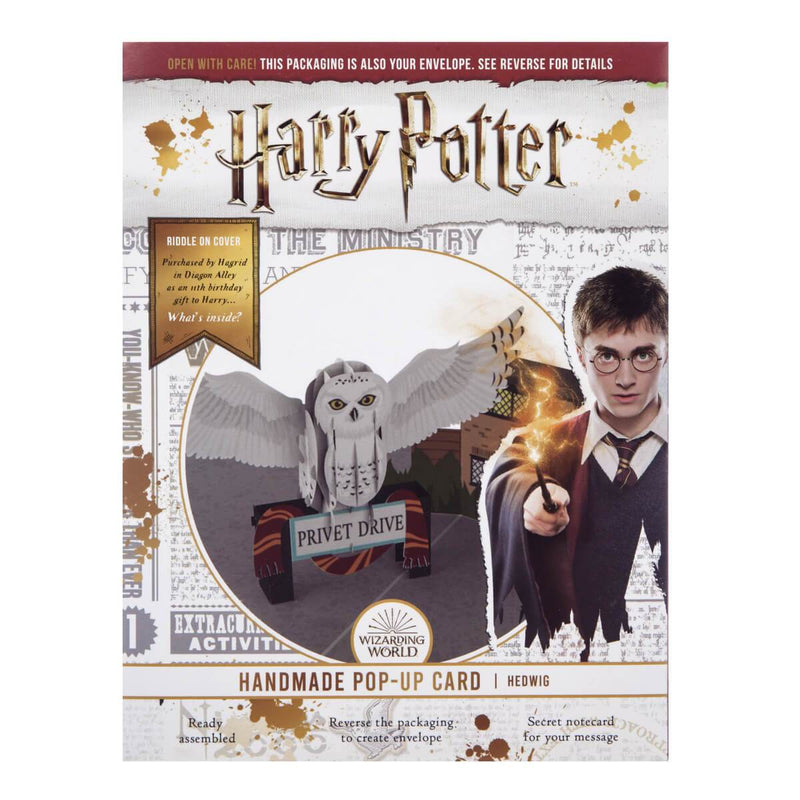 Harry Potter Hedwig Pop Up Card Official Merchandise