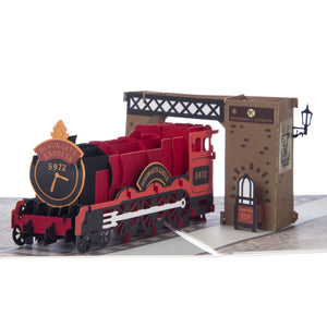Harry Potter Hogwarts Express Pop Up Card close up image