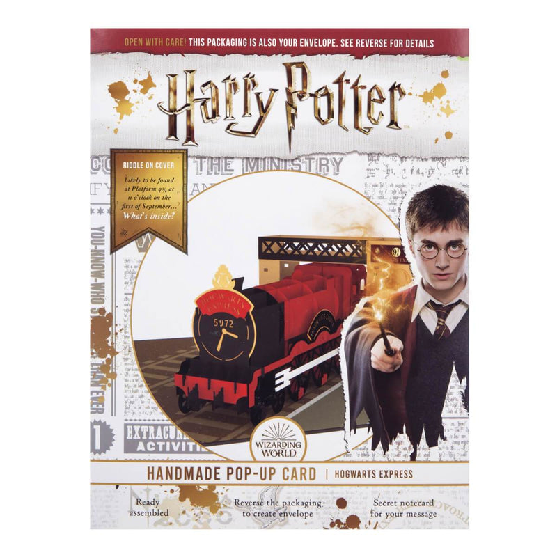 Harry Potter Hogwarts Express Pop Up Card packaging
