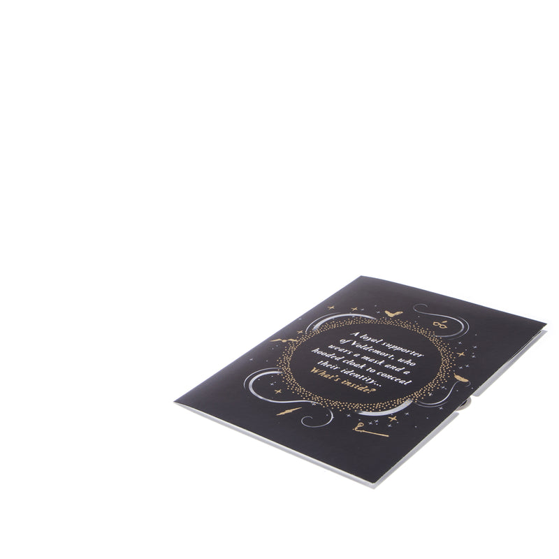 Harry Potter Death Eater Pop Up Card - Harry Potter Dark Arts - Fully Closed On White Surface