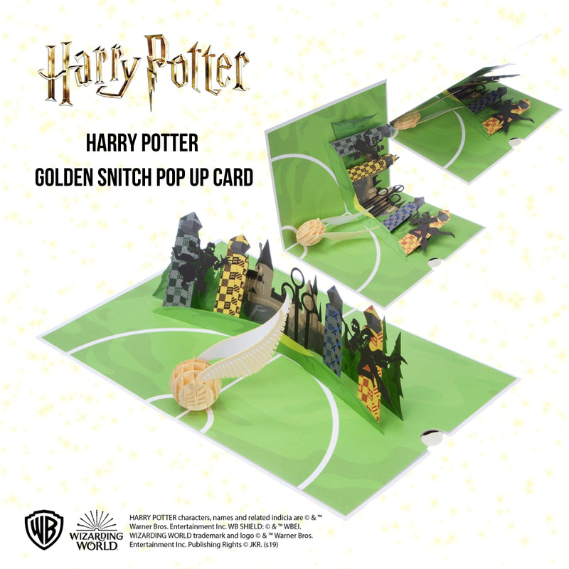 Image of Harry Potter 3D Card open at 180 degrees