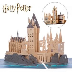 Harry Potter Birthday Card - Hogwarts Castle Pop Up Card