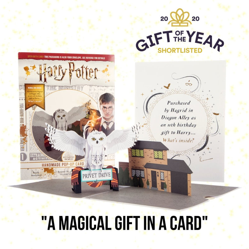 Image of Harry Potter Hedwig 3D Card Official Merchandise Open