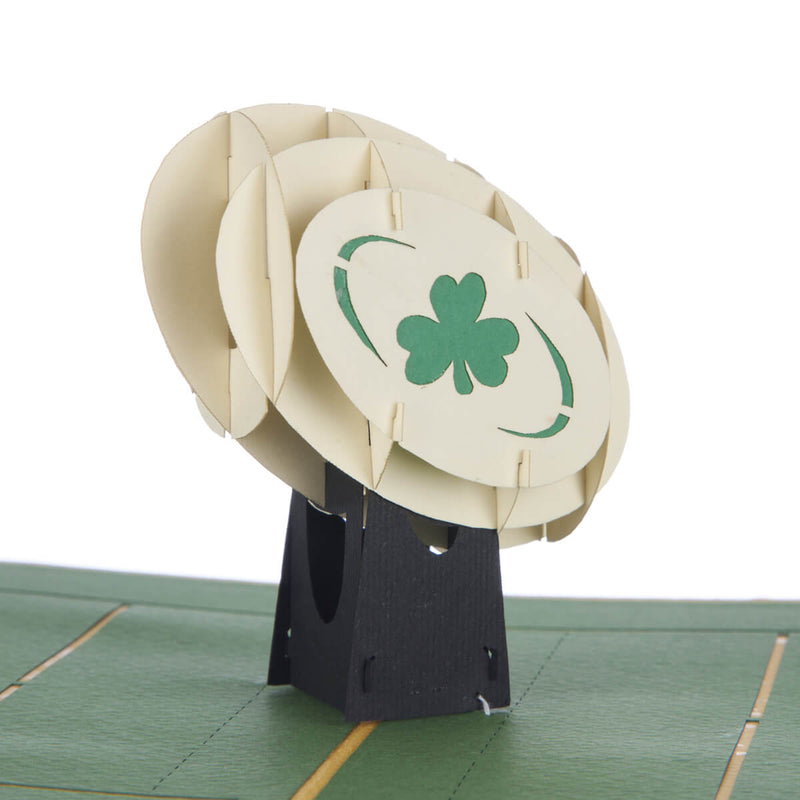 Close up image of Irish Rugby Pop Up Card