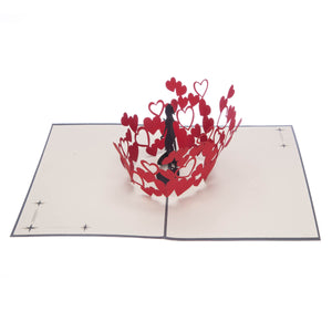 Women Kissing Pop Up Card
