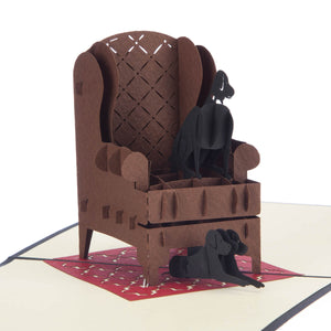 Labradors Pop Up Card