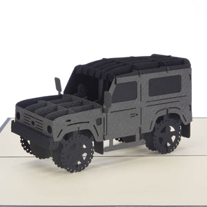 Land Rover Birthday 3D Card close up image