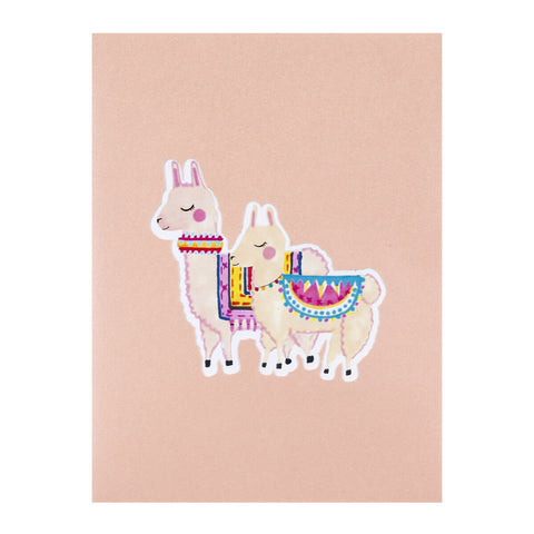 Llama Pop Up Card