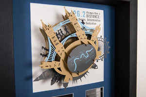 London Marathon 3D Art with route