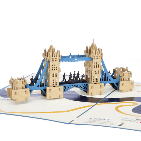 London Marathon Pop Up Card
