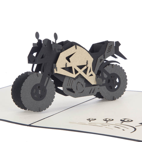 Motorbike Pop Up Card