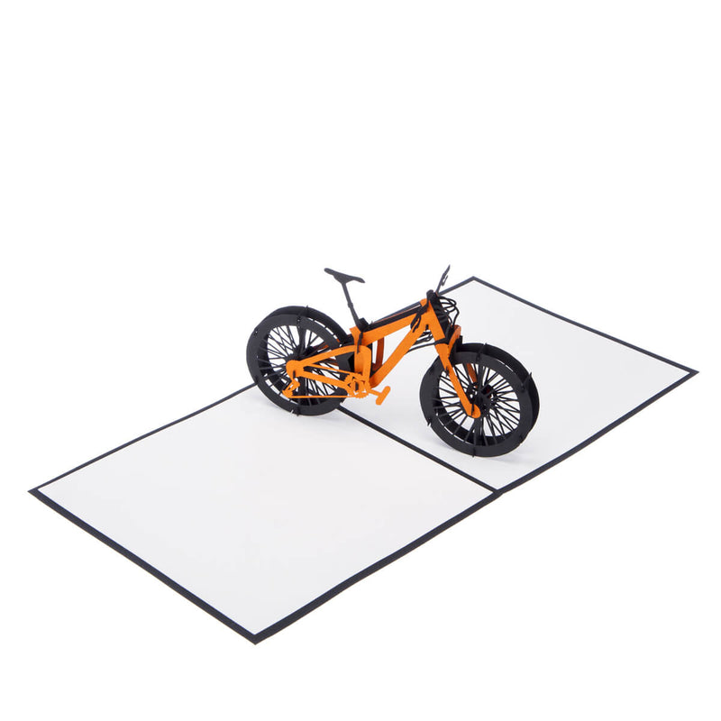 Mountain Biking Pop Up Card