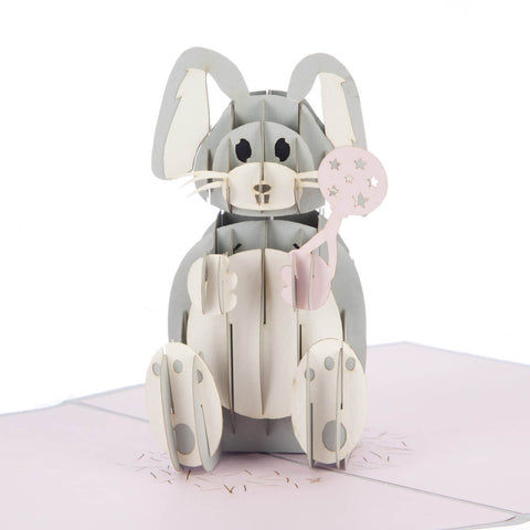 Baby Girl Bunny Pop Up Card