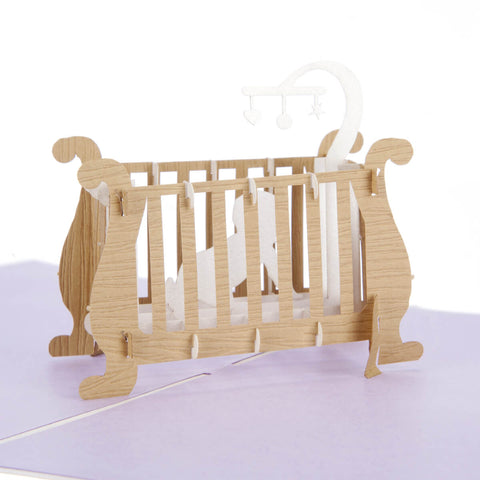 Baby in Cot Pop Up Card