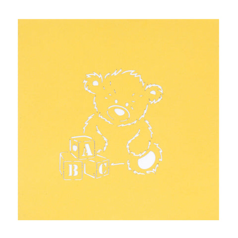 New Baby Bear Pop Up Card