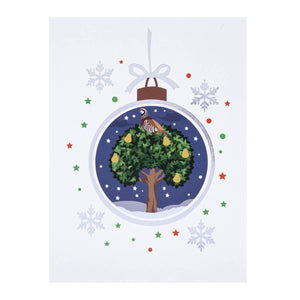 Partridge In A Pear Tree Pop Up Card For Christmas.  Card Front Cover Image