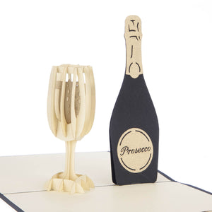 Prosecco Pop Up Card