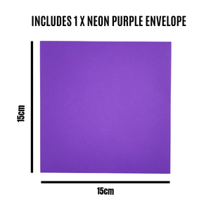 Purple Envelope 15cm by 15cm