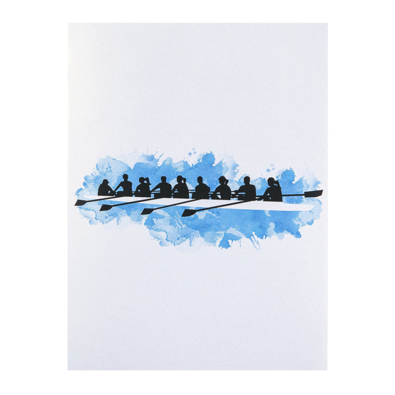 Rowing Pop Up Card - 8 Rowers Men and Women - Card Cover Image