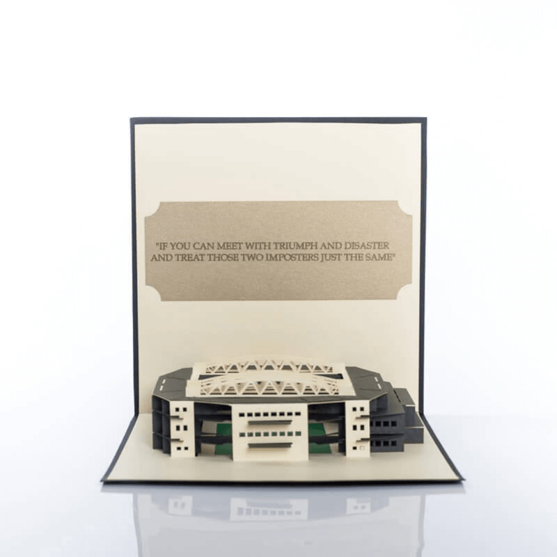 Wimbledon Tennis SW19 Stadium Pop Up Card Close Up