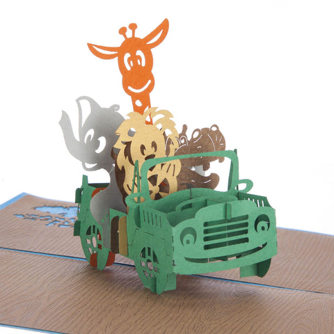 Safari Animals Pop Up Card