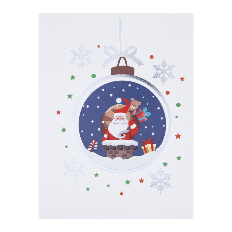 Santa Pop Up Christmas Card Cover Image