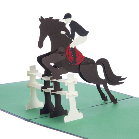 Show Jumping Pop Up Card