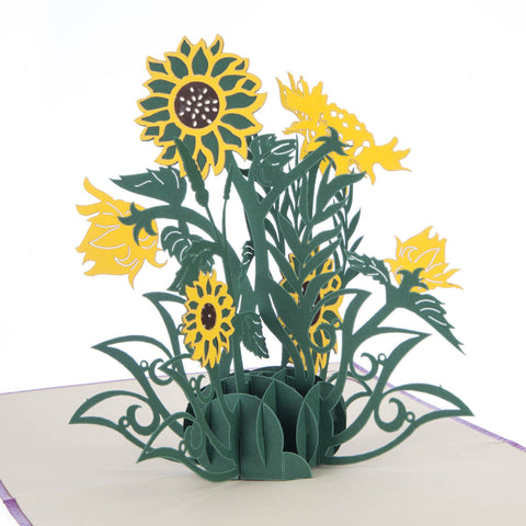 Sunflowers Pop Up Card